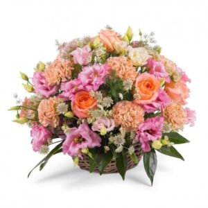 Kosze kwiatowe- kosz koralowy