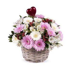 Kosze kwiatowe- kosz serdeczności