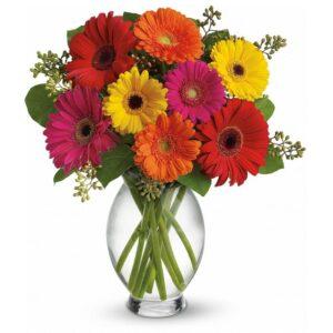 Kwiaty- Bukiet Gerbery z przybraniem