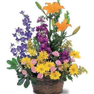 Kosze kwiatowe- Kosz Miłość W Zakopanem