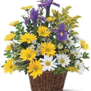 Kosze kwiatowe- Kosz wiosenny powiew