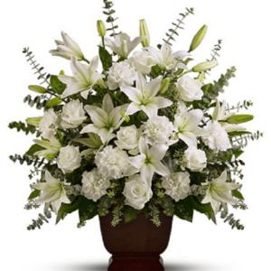 Kwiaty- Kompozycja biały aromat