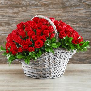 Kwiaty- Kosz 100 róż