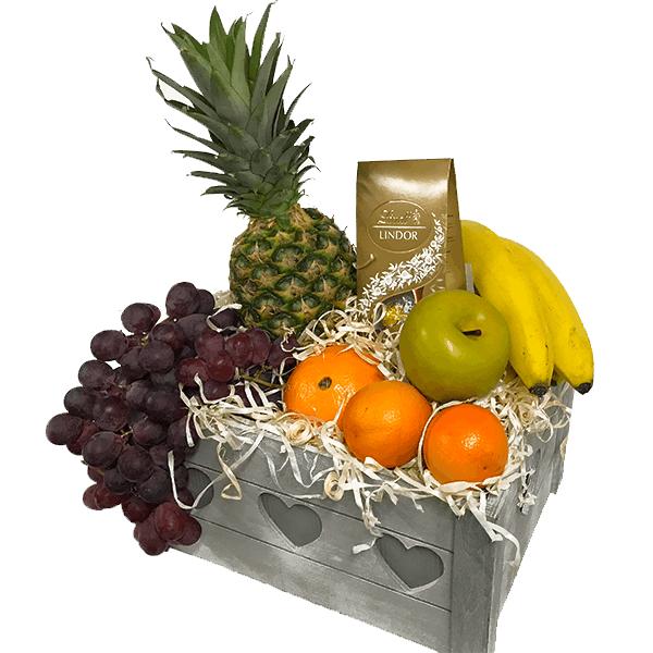 Kosze delikatesowe- Kosz Skrzynia Witamin+ Czekoladki