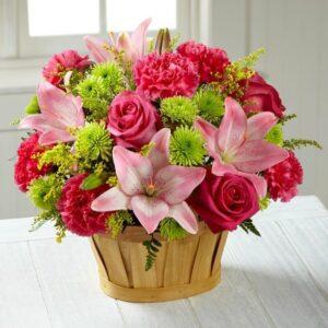 Kwiaty- Kompozycja kwiatowa różnorodność+ czekoladki