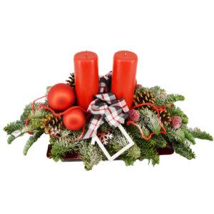 Stroik świąteczna czerwień