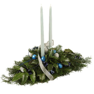 Stroik świąteczny niebieski akcent