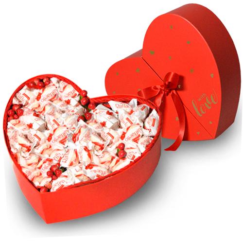 Serce słodka niespodzianka z raffaelo