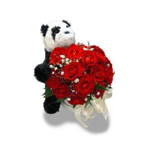 Różany box z pandą
