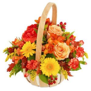 Jesienny Kosz Kwiatów