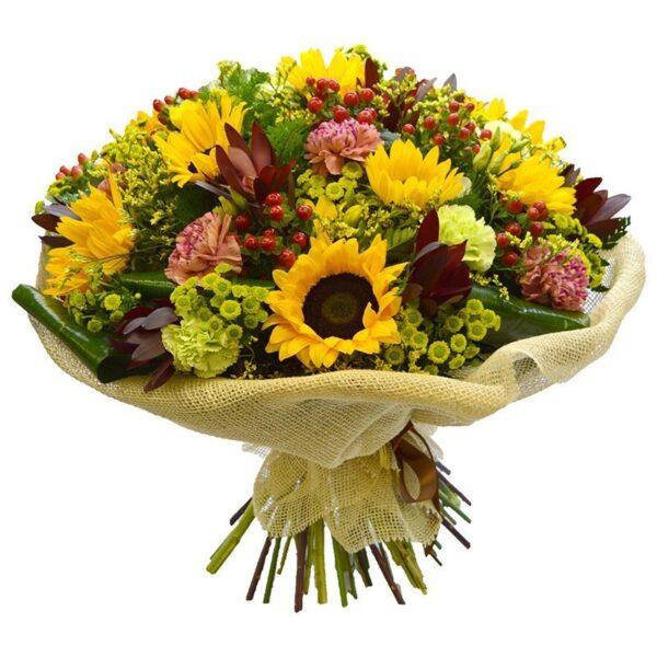 kwiaty- Bukiet słonecznikowa mieszanka