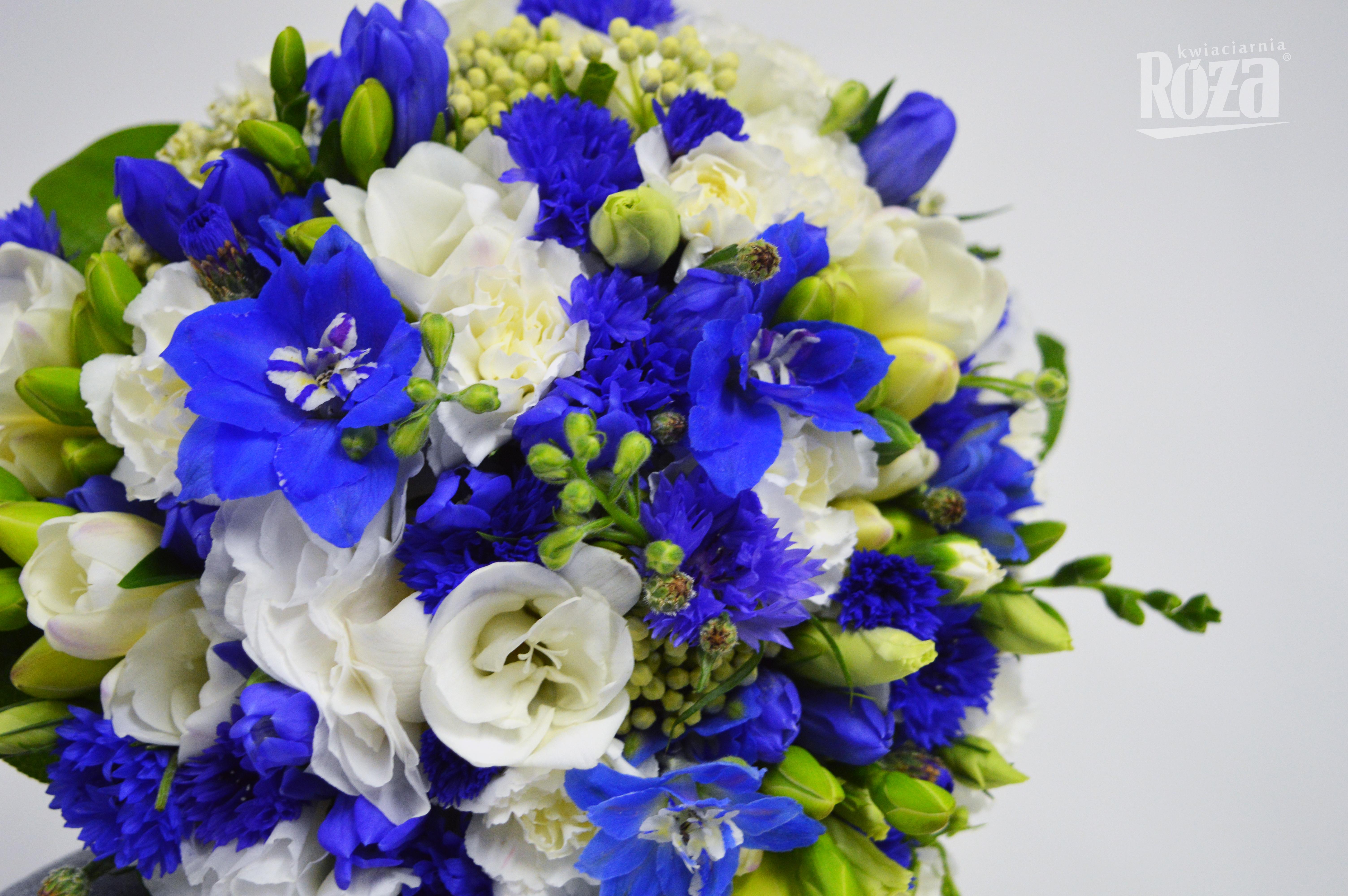 Chabrowe I Kobaltowe śluby Róża Kwiaty