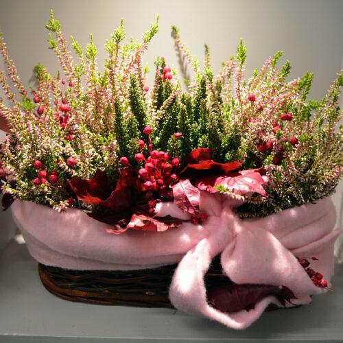 Kwiaty- jesienna kompozycja wrzosowa