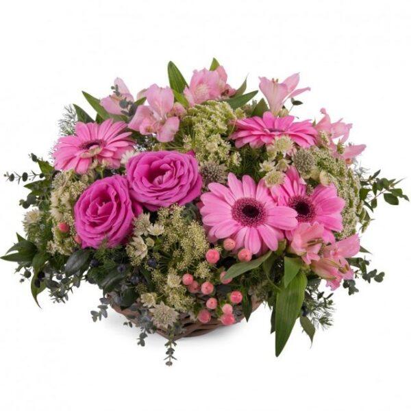 Kosze kwiatowe- kosz poziomkowy
