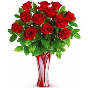 Kwiaty- Bukiet 13 czerwonych róż