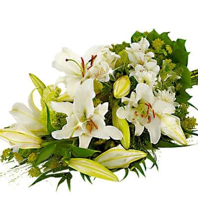 Okazje- Wiązanka pogrzebowa z białymi liliami
