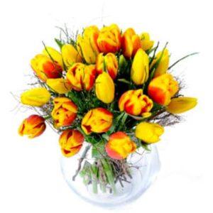 Kwiaty- Bukiet 25 tulipanów+ dodatki