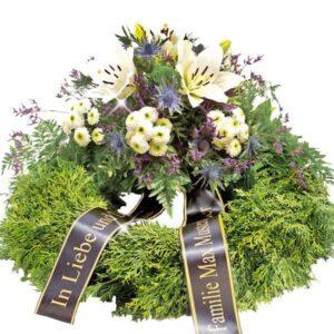 Okazje- Wieniec pogrzebowy z białymi liliami