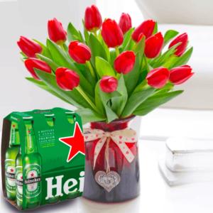 Kwiaty- Bukiet 15 tulipanów+ 6 pak