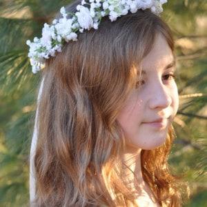 Okazje-Komunia święta- Wianek białe marzenie