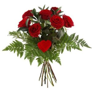 Zagranica- Szwecja- Kwiaty- 7 czerwonych róż