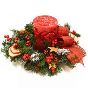 Stroik świąteczny zapach zimy