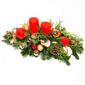 Stroik świąteczny leśny akcent I