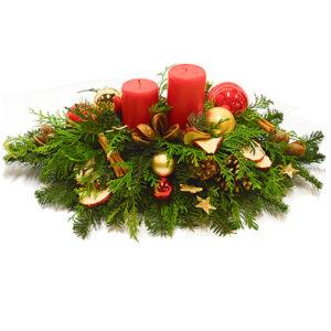 Stroik świąteczny leśny akcent II