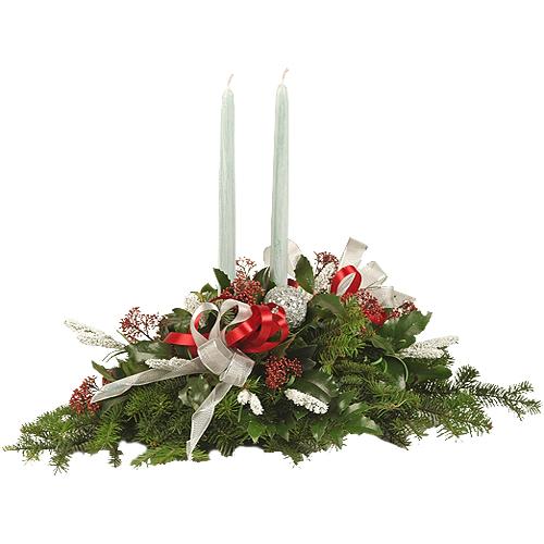Stroik świąteczny biały akcent