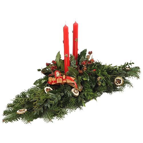 Stroik świąteczny cytrynowy akcent
