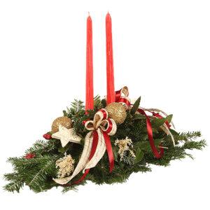 Stroik świąteczny złoty akcent