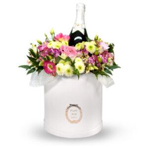 flowerbox z szampanem