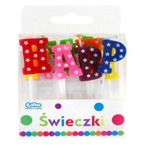 swieczki pikery literki happy birthday gwiazdki