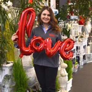 balonowy napis love