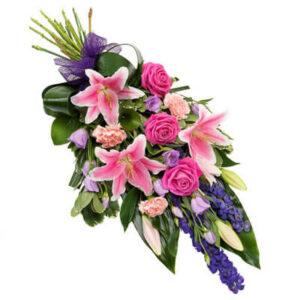Kolorowa wiązanka pogrzebowa